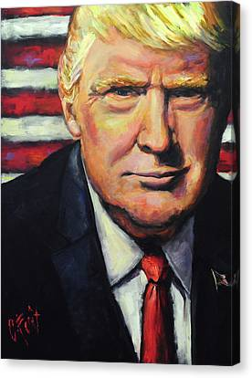 Potus Canvas Print - President Trump by Carole Foret