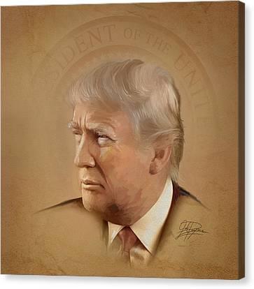 President Trump Canvas Print