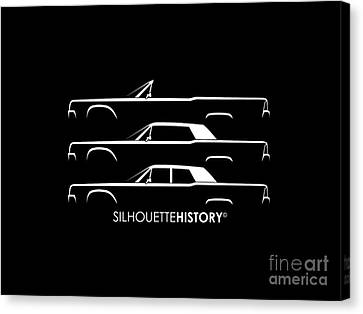 Lincoln Canvas Print - Presidential Limousine Silhouettehistory by Gabor Vida