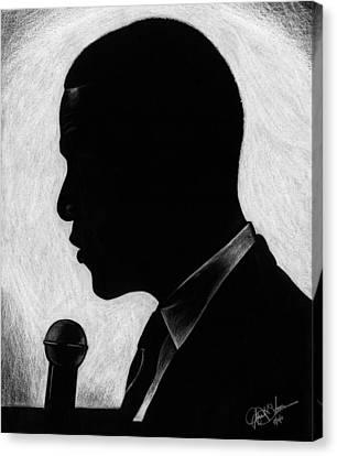 Barack Canvas Print - Presidential Silhouette by Jeff Stroman