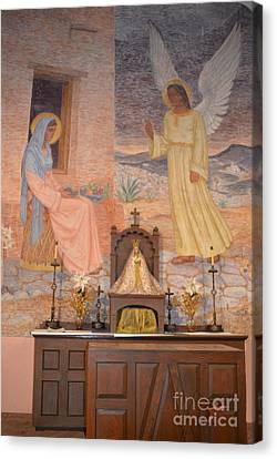 Gold Star Mother Canvas Print - Presidio La Bahia Mission by Donna Brown