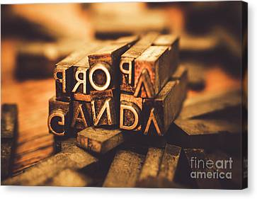 Press Of Propaganda Canvas Print by Jorgo Photography - Wall Art Gallery