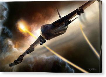 Press On To Target Canvas Print by Peter Chilelli