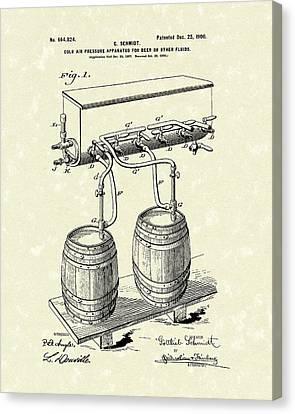 Pressure System 1900 Patent Art  Canvas Print by Prior Art Design