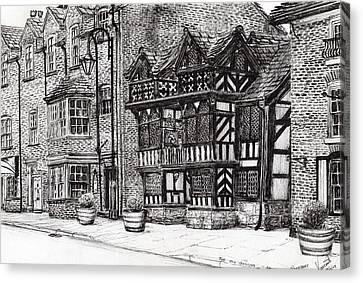 Prestbury Nat West Bank Canvas Print by Vincent Alexander Booth