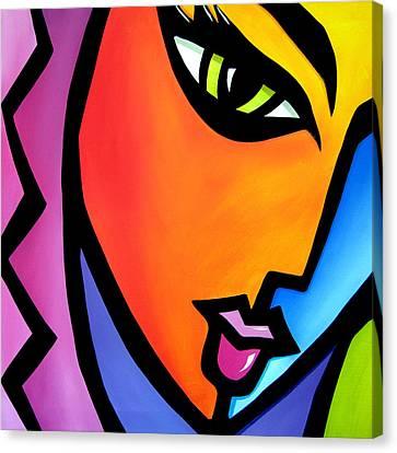 Pretending - Original Pop Art Canvas Print by Tom Fedro - Fidostudio
