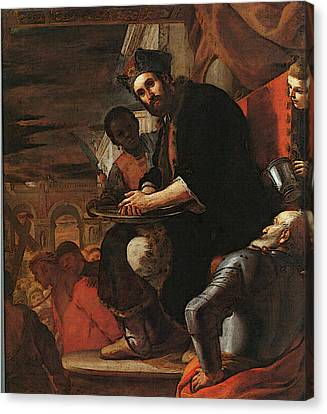 Preti Mattia Pilate Washing His Hands Canvas Print by Mattia Preti
