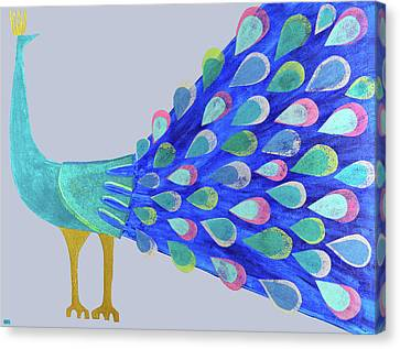 Pretty As A Peacock Canvas Print