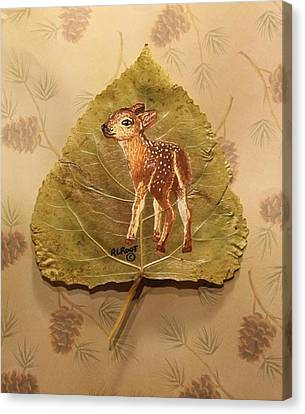 Pretty Baby Deer Canvas Print by Ralph Root