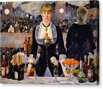 Pretty Bartender 1881 Canvas Print by Padre Art