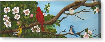 Pretty Birds Canvas Print