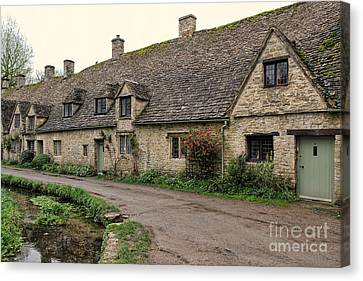 Pretty Cottages All In A Row Canvas Print