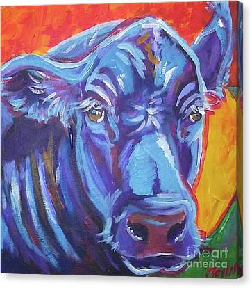 Pretty Face Cow Canvas Print by Jenn Cunningham