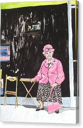 Canvas Print featuring the painting Pretty In Pink by Esther Newman-Cohen