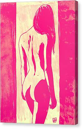 Naked Canvas Print - Pretty In Pink by Giuseppe Cristiano