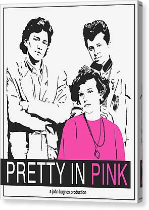Pretty In Pink Movie Poster Canvas Print