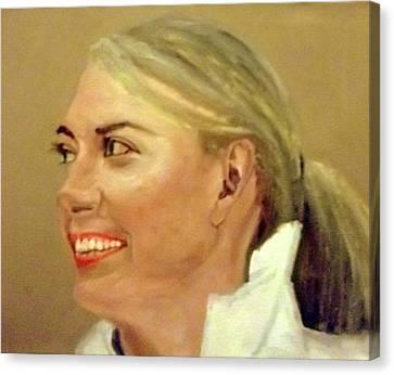 Maria Sharapova Canvas Print - Pretty Maria by Peter Gartner