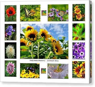 Canvas Print featuring the photograph Pretty Petals Collection I by Diane E Berry