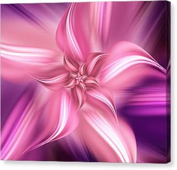 Celebration Canvas Print - Pretty Pink Flower by Anastasiya Malakhova