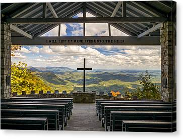 Dave Allen Canvas Print - Pretty Place Chapel - Blue Ridge Mountains Sc by Dave Allen