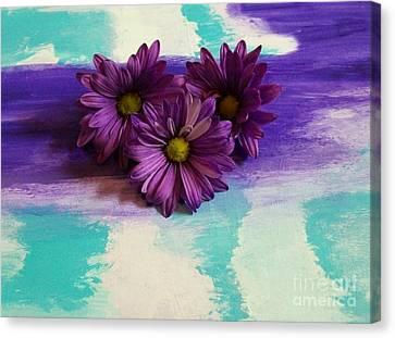 Pretty Purple Ladies Canvas Print by Marsha Heiken