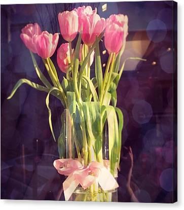 Floral Canvas Print - Pretty #tulip #flower #arrangement I by Shari Warren