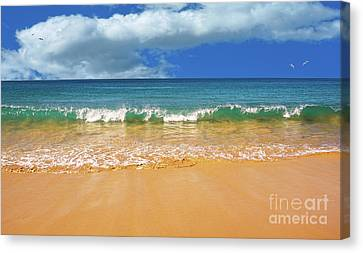 Pretty Waves In Paradise By Kaye Menner Canvas Print by Kaye Menner