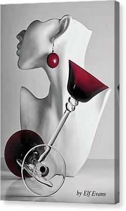Canvas Print featuring the photograph Pretty Woman 3 by Elf Evans