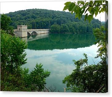 Prettyboy Reservoir Dam Canvas Print by Mark Dodd