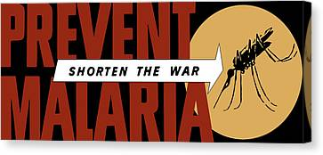 Prevent Malaria - Shorten The War  Canvas Print by War Is Hell Store