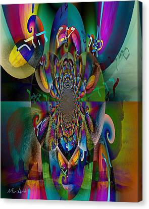 Canvas Print featuring the photograph Pri Eitz Hadar Abstract by Miriam Shaw