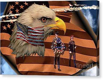 Canvas Print featuring the photograph Price Of Freedom by Ken Frischkorn