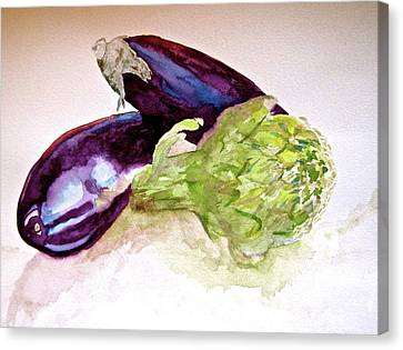 Canvas Print featuring the painting Prickly And Voluptuous by Beverley Harper Tinsley