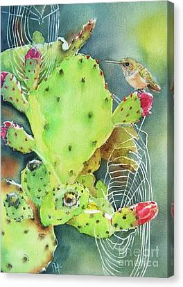 Prickly Pair Canvas Print by Patricia Pushaw