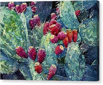 Prickly Pear 2 Canvas Print by Hailey E Herrera