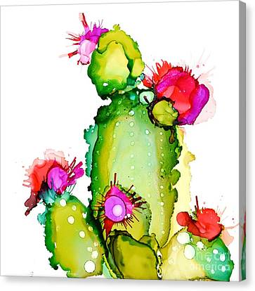 Prickly Pear Cooler Canvas Print by Marla Beyer
