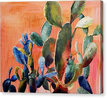 Prickly Pear Canvas Print by Lynee Sapere