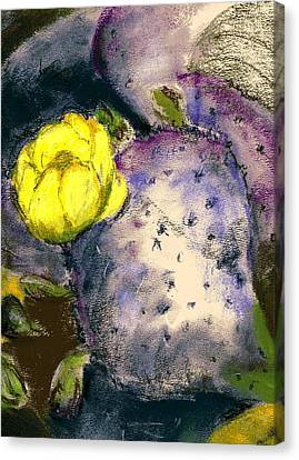 Canvas Print featuring the painting Prickly Pear by Marilyn Barton