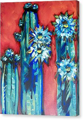 Prickly Sisters Canvas Print by Sheila Tajima