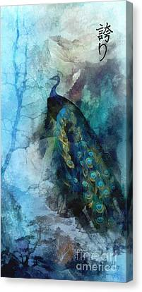 Canvas Print featuring the painting Pride by Mo T