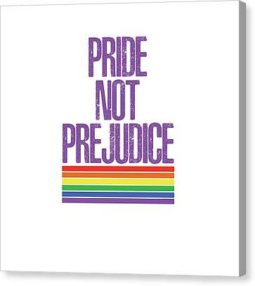 Canvas Print featuring the drawing Pride Not Prejudice by Heidi Hermes