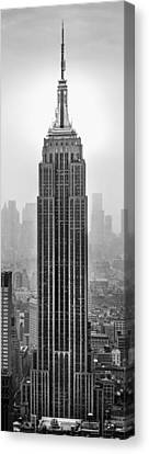 New York City Skyline Canvas Print - Pride Of An Empire by Az Jackson