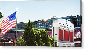 Canvas Print featuring the photograph Pride Of Athens by Parker Cunningham