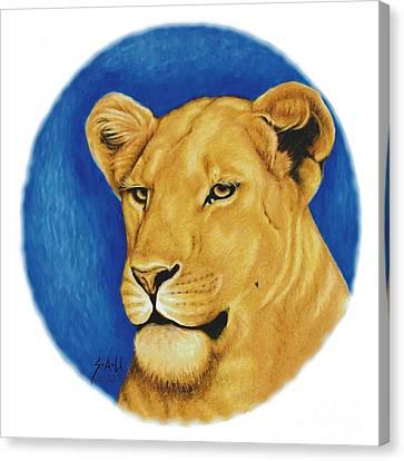 Prideful Glance Canvas Print by Sheryl Unwin