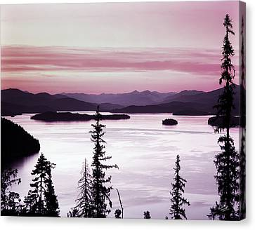 Priest Lake Canvas Print by Leland D Howard