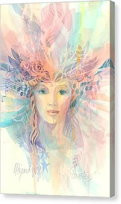 Priestess Canvas Print by Carolyn Utigard Thomas