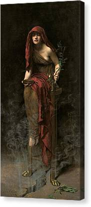 Collier Canvas Print - Priestess Of Delphi by John Collier