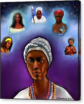Priestess Of Santeria Canvas Print by Carmen Cordova