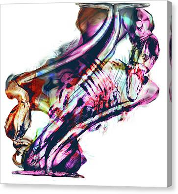 Merging Canvas Print - Primal Instinct by Haufi Ficoure