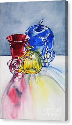 Primary Glass Canvas Print by Jane Loveall